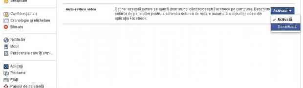 Facebook ruleaza automat clipurile video